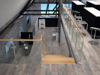 Визуализация интерьера с лестницей