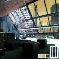 Интерьер с использованием 2-х типов солнечных панелей (иллюстрации для буклета)