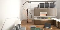Винтовая лестница в интерере 5