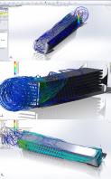 Исследование движения воздушных потоков в проектируемом объёме