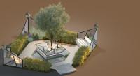 Выставочная зона отдыха2 5х5 [3-d визуализация+план]