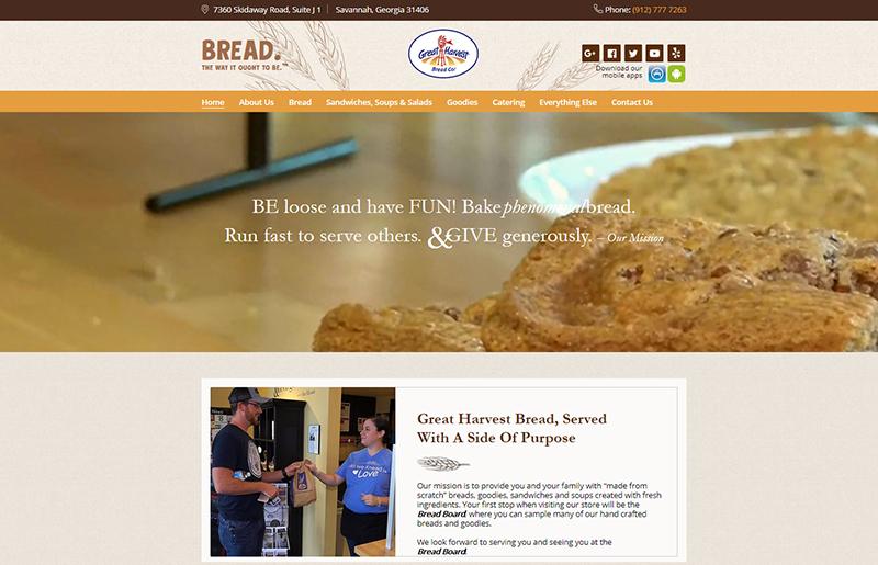 Сайт хлебопекарни Great Harvest Bread