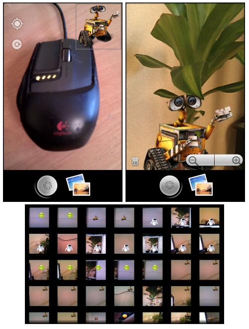 Андроид: фотоаппарат с добавлением лого