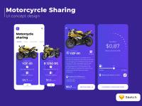 Motorcyrcle Sharing / UI concept design
