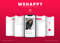 """Дизайн приложения знакомств - """"WeHappy"""""""