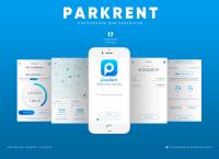 ParkRent - Дизайн приложения для парковки автомобиля