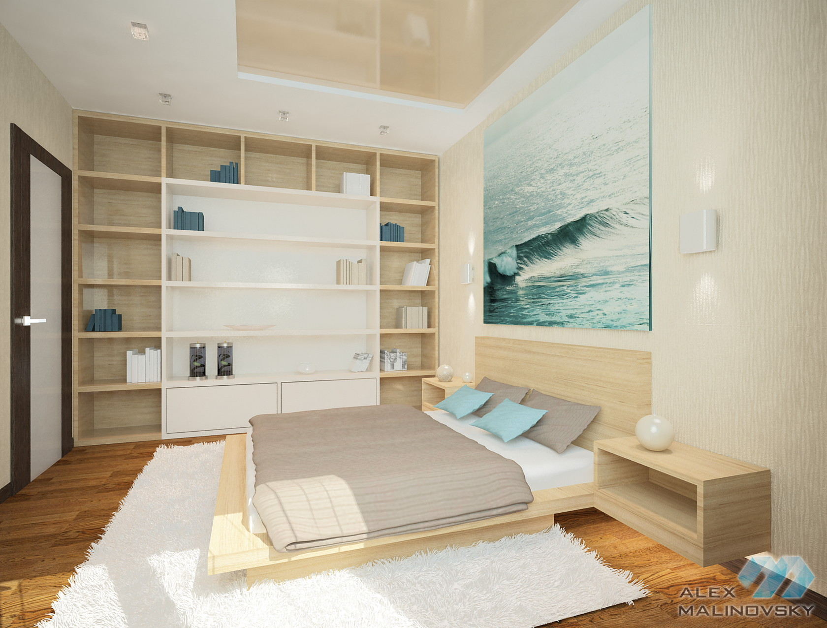 Спальня, 3х комнатная квартира, ЖК Южный, СПб