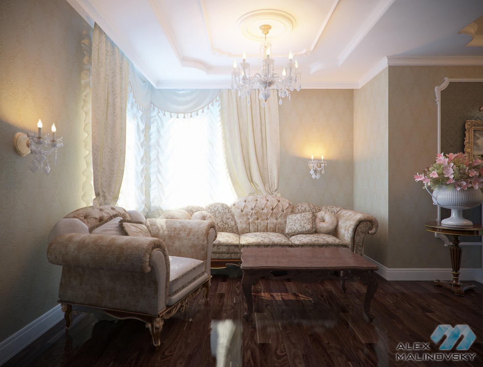 Гостиная, 3х комнатная квартира, ЖК Доминанта, СПб