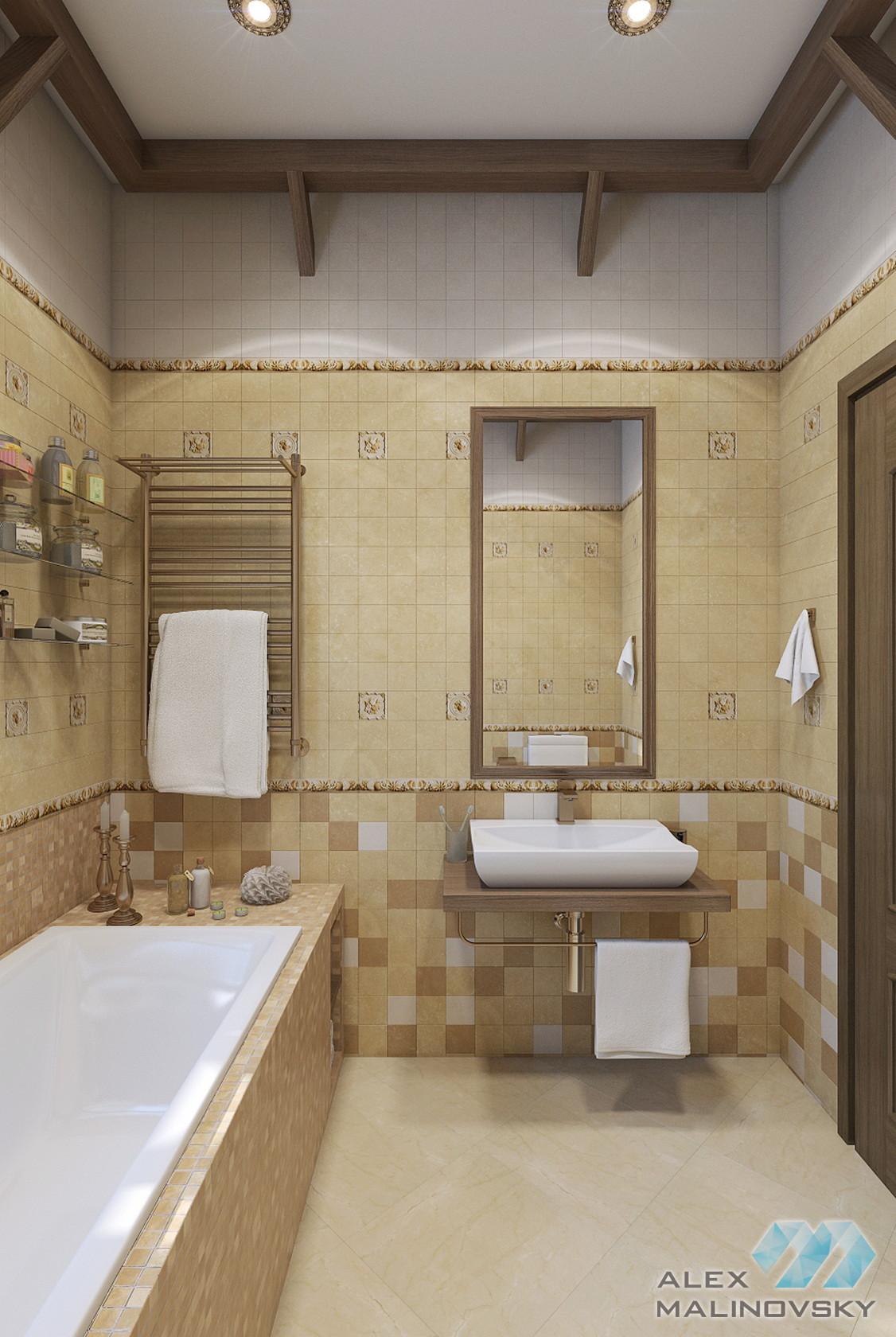КП Сиеста, Московская область, ванная в коттедже