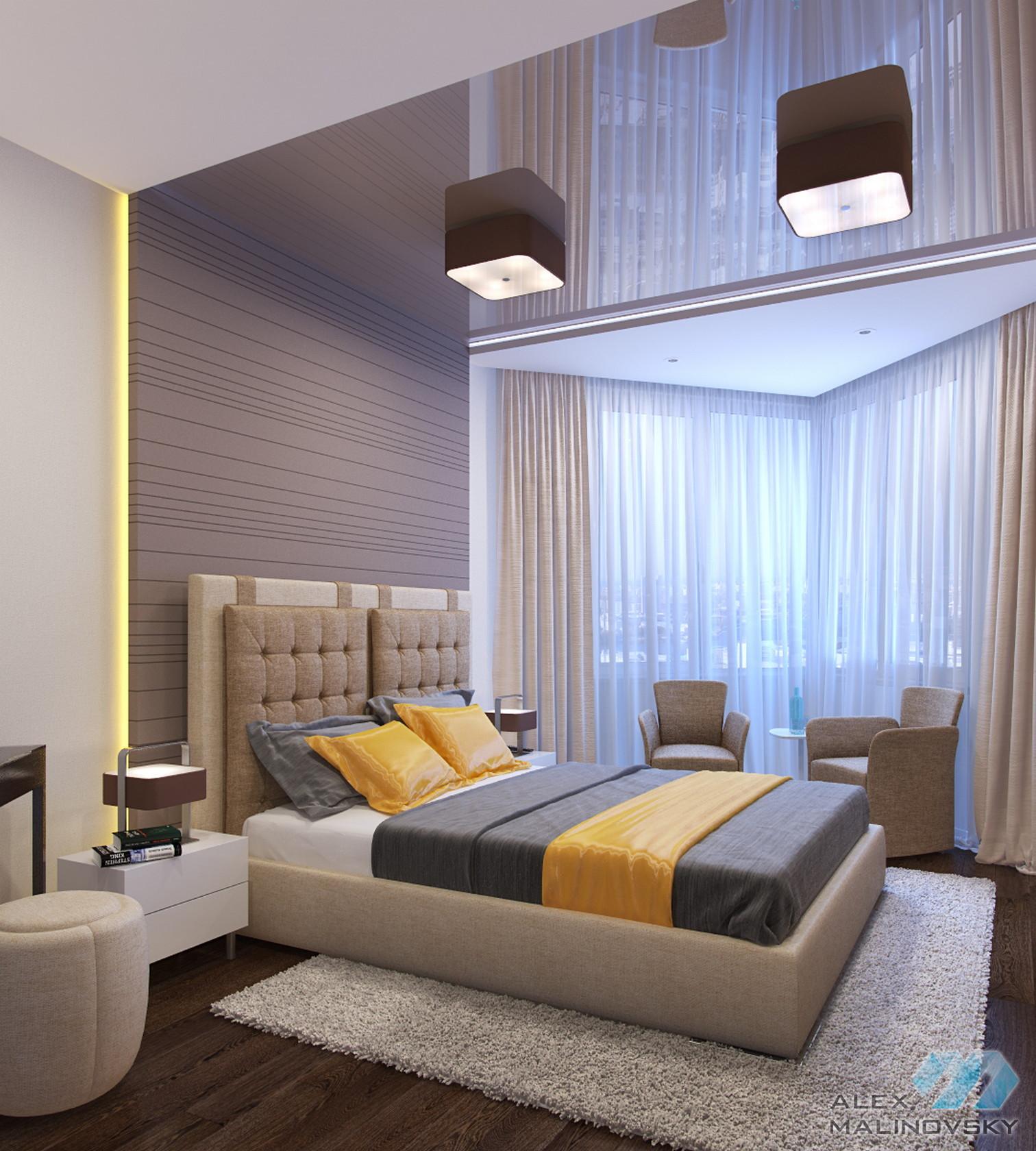 Спальня, 3х комнатная квартира, ЖК Озерки, СПб