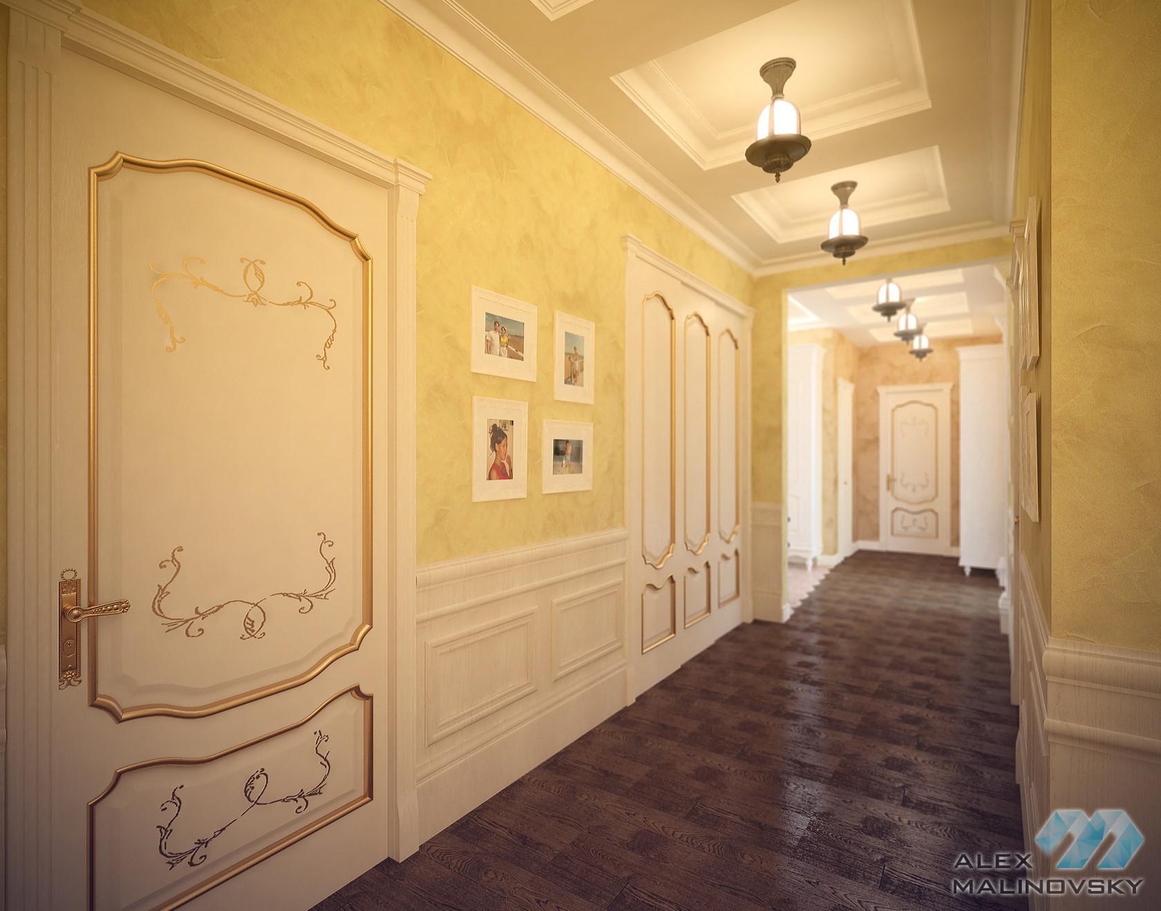 Коридор, 4х комнатная квартира, ЖК Парус, СПб