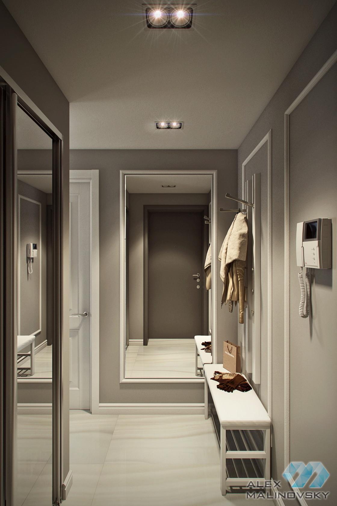 Прихожая, 3 комнатная квартира в Красногорске
