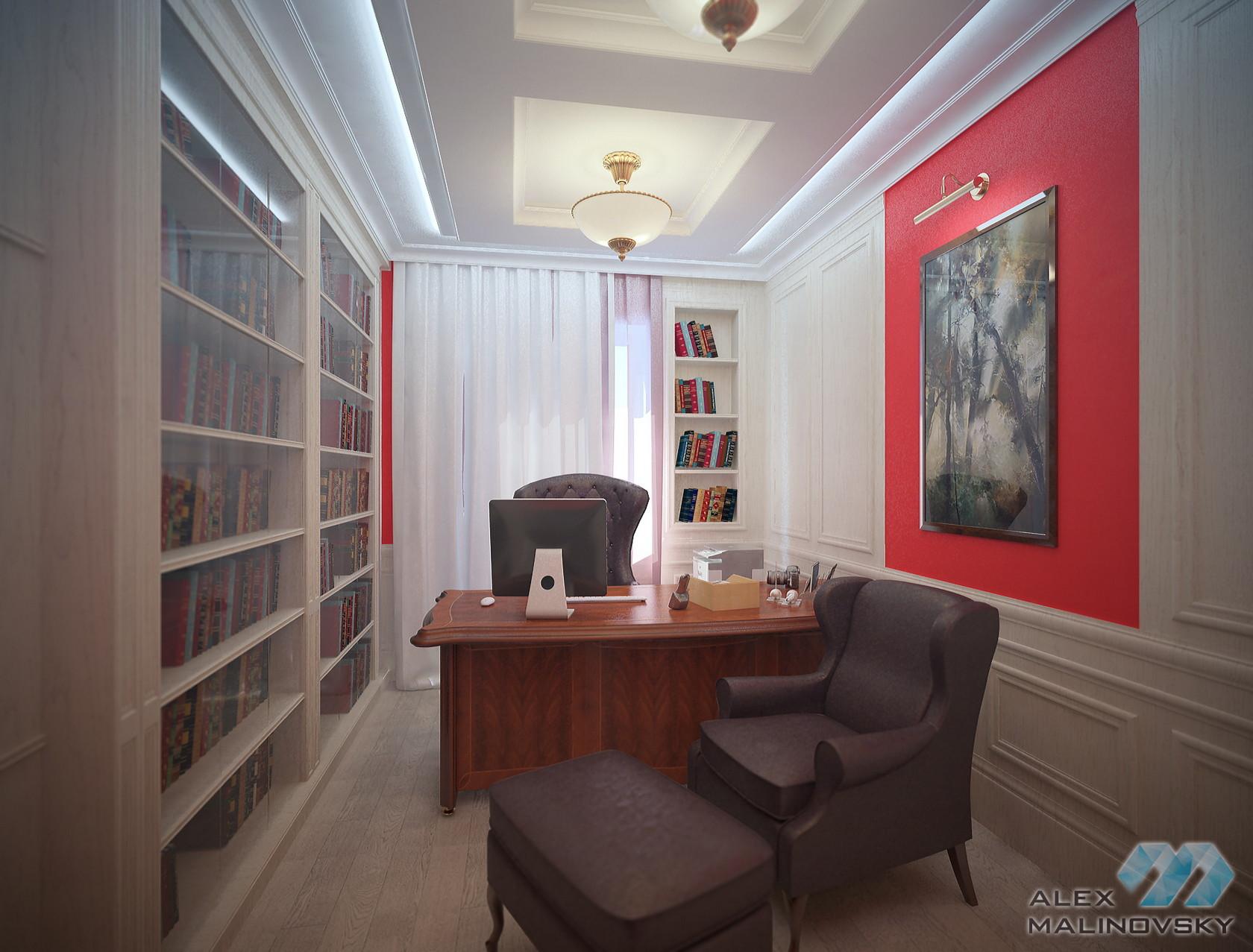Кабинет, 4х комнатная квартира, ЖК Парус, СПб