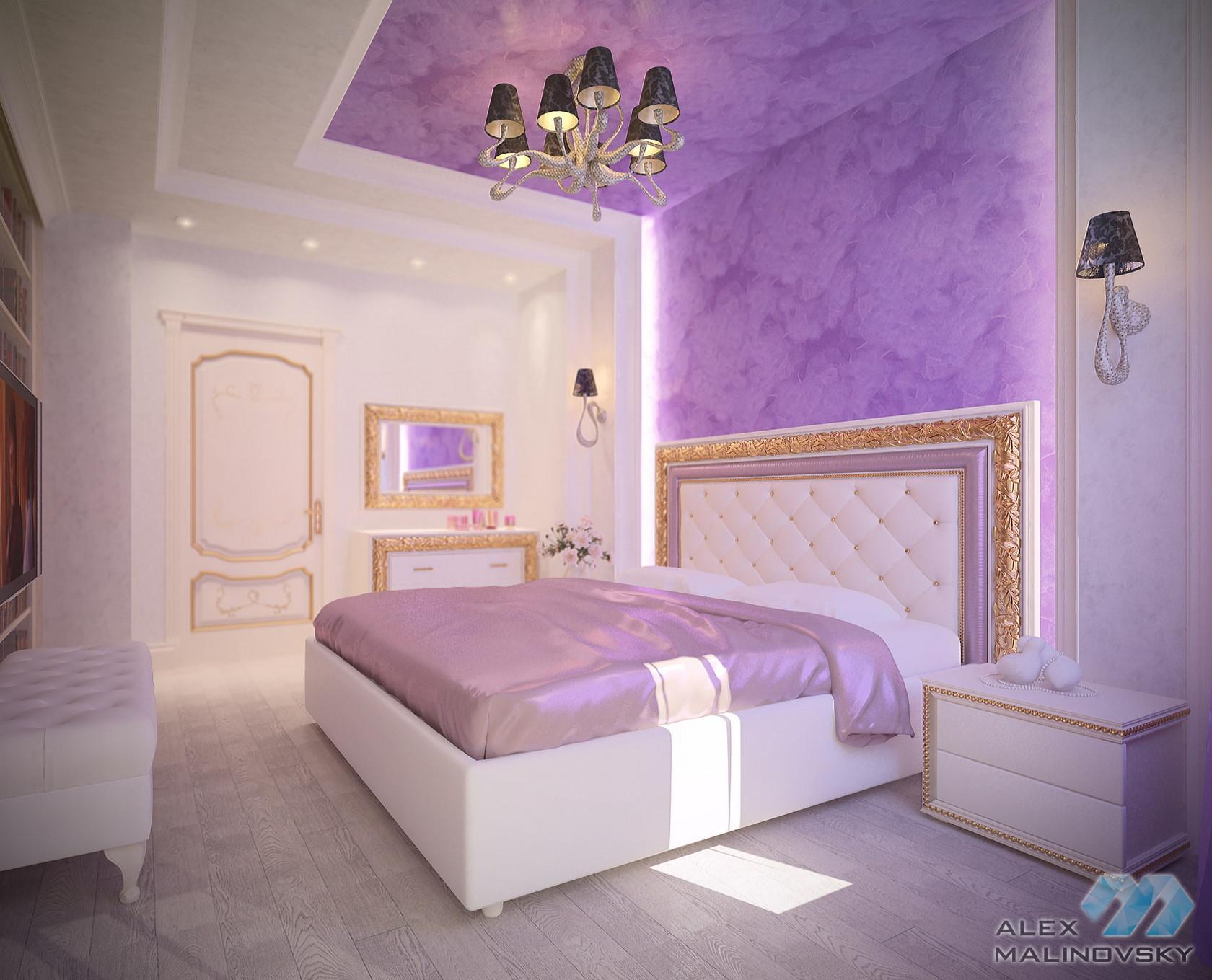 Спальня, 4х комнатная квартира, ЖК Парус, СПб