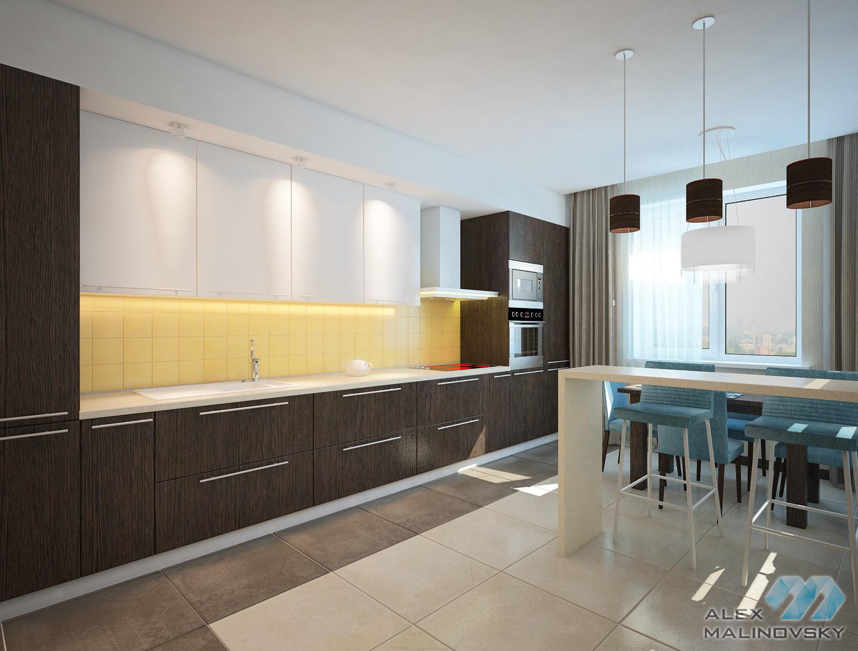 Кухня, 3х комнатная квартира, ЖК Южный, СПб