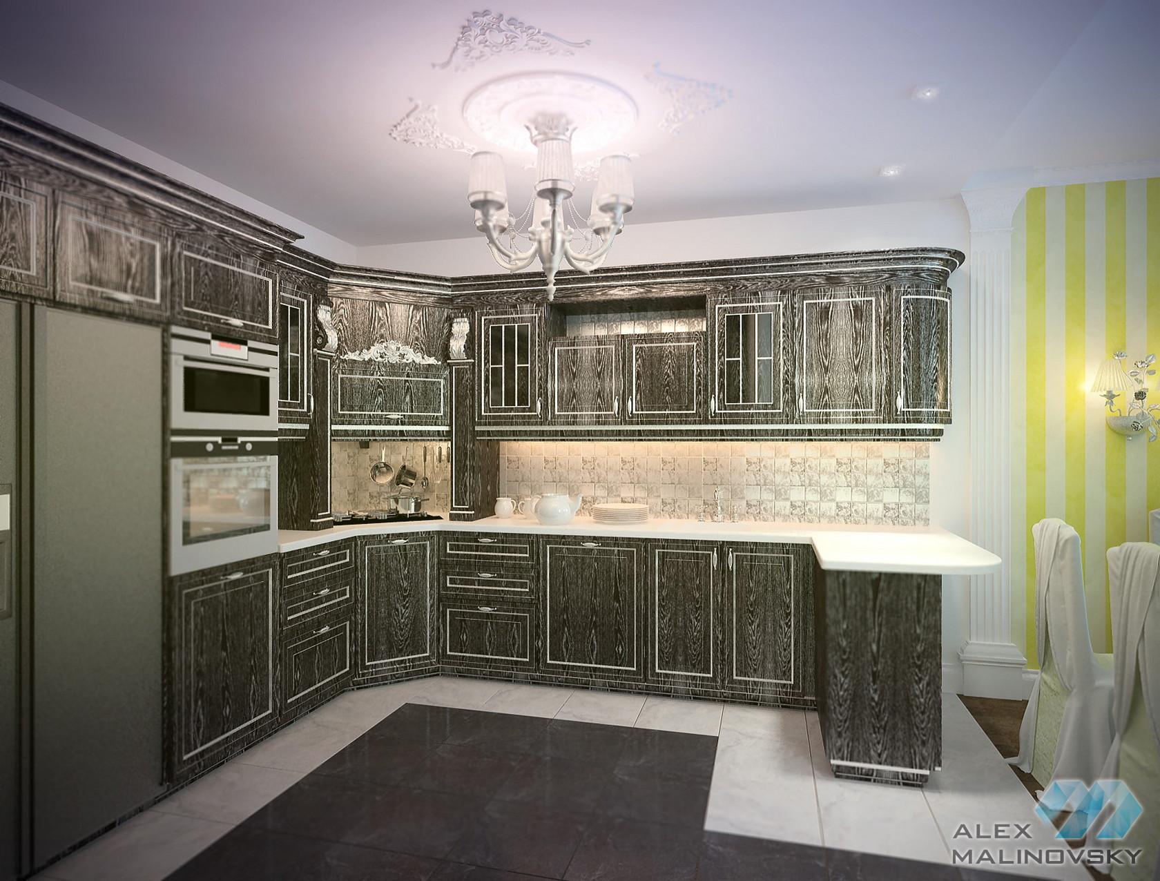 Кухня, 4х комнатная квартира, ЖК Парус, СПб