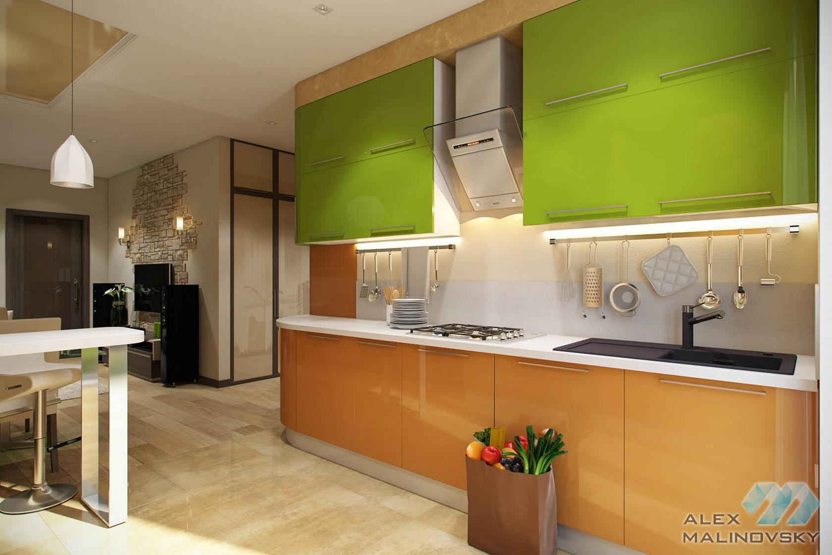 Кухня, 4х комнатная квартира в Одинцово