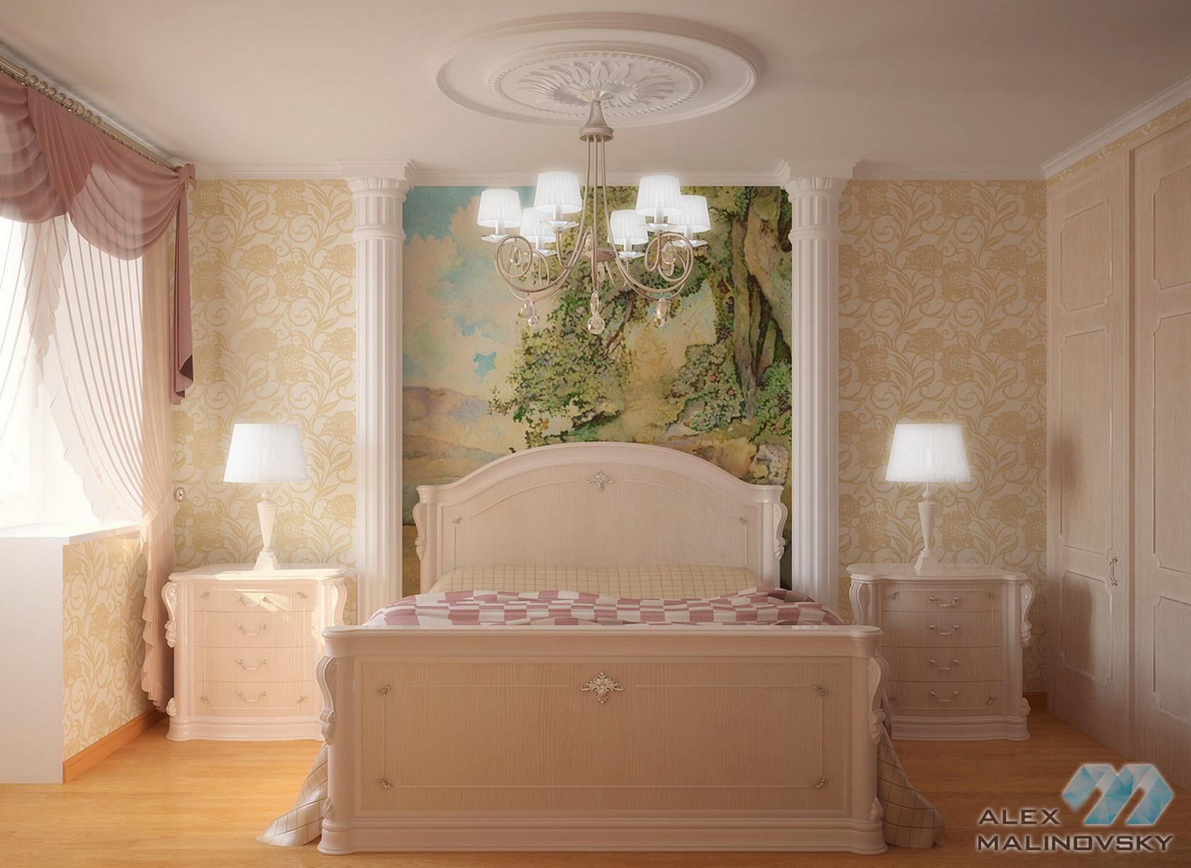 Спальня, 3х комнатная квартира, ЖК Князь Владимир, Белгород