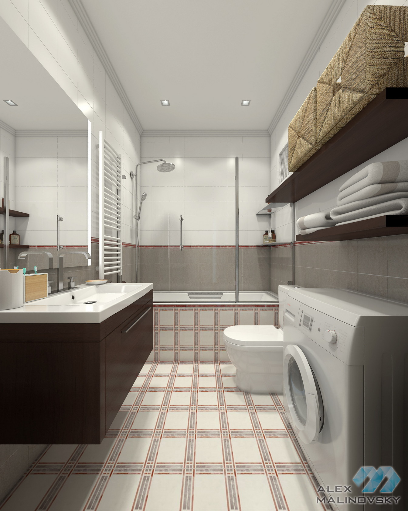 Ванная, 3х комнатная квартира, ЖК Совхоз им Ленина, Москва