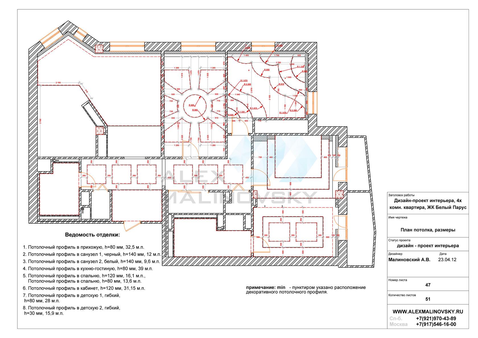 47, план потолка