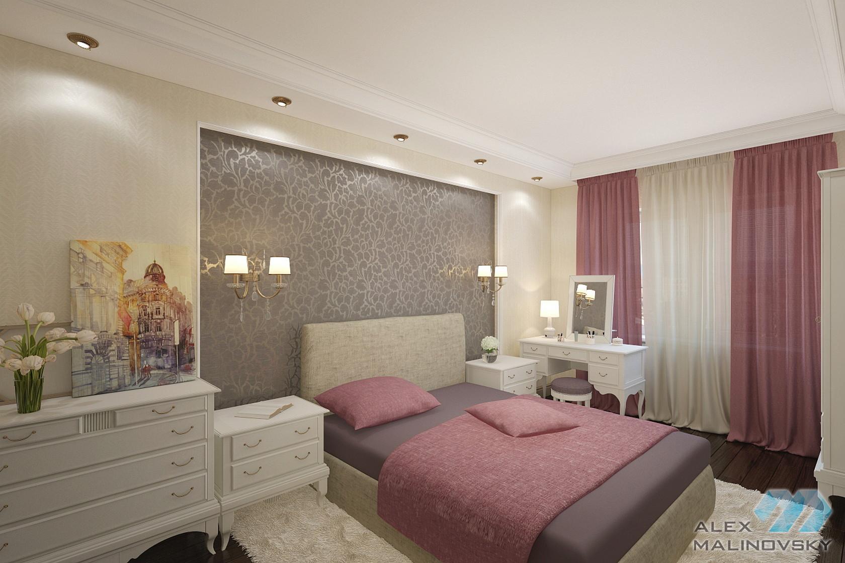 Спальня, двухкомнатная квартира, Фермское шоссе, СПб