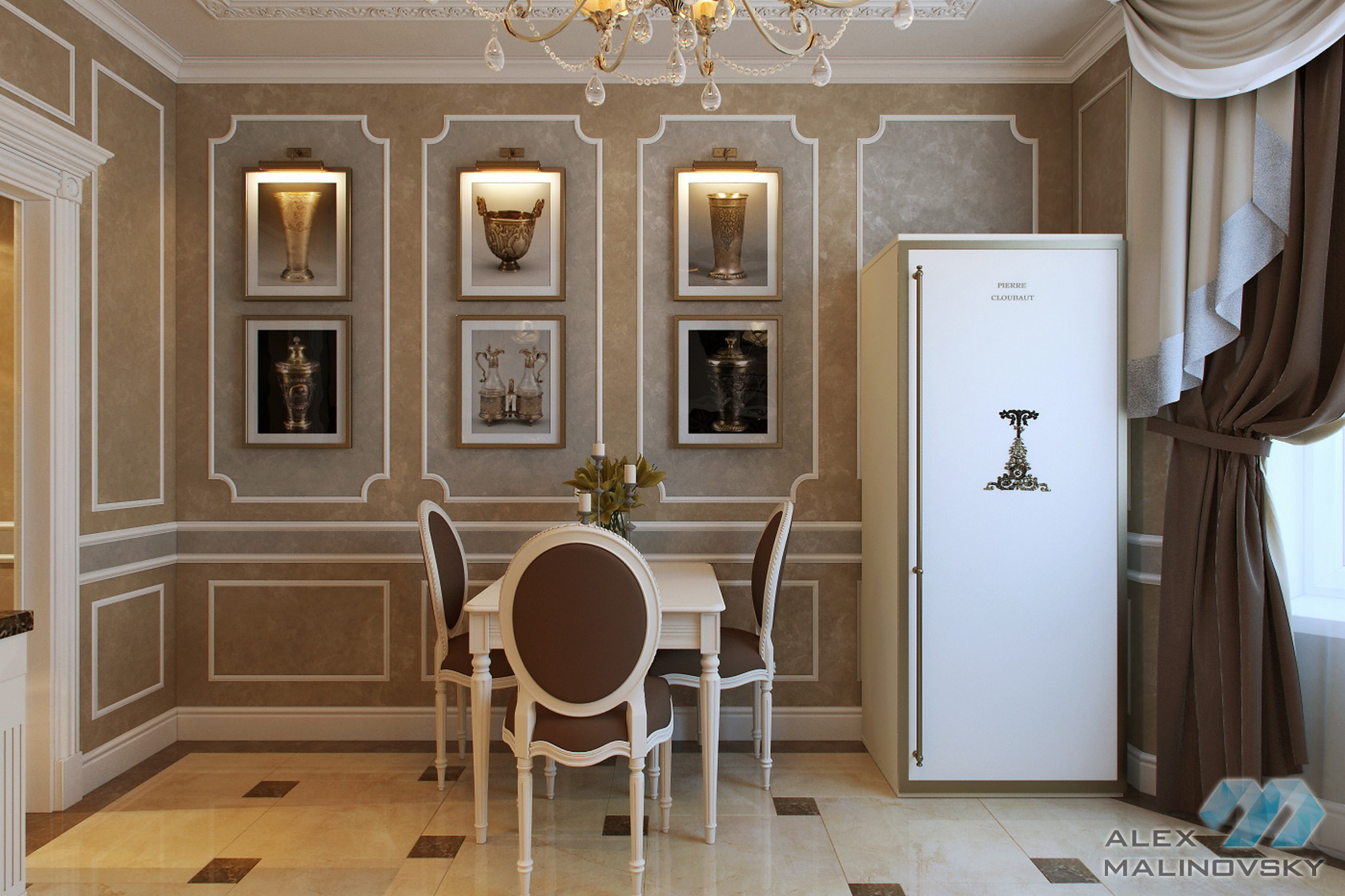 Столовая, 3х комнатная квартира, Старый Арбат, Москва