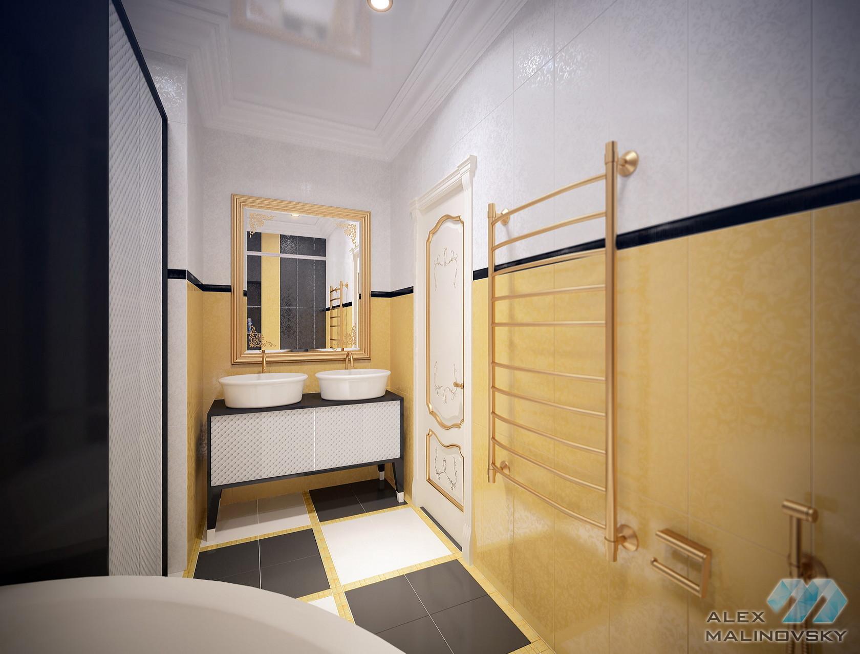 Санузел 2, 4х комнатная квартира, ЖК Парус, СПб