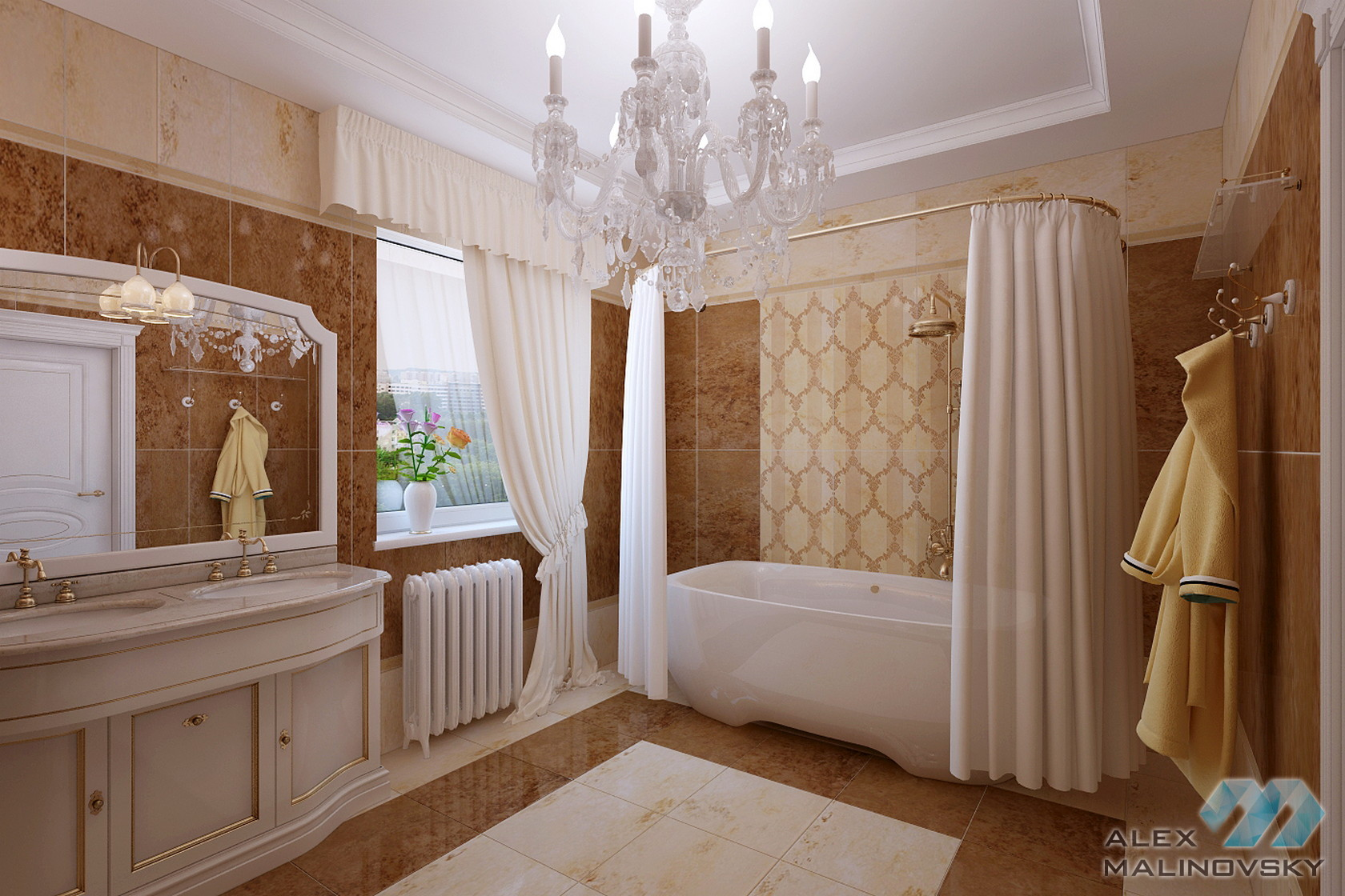 Коттедж в Коврове, ванная комната