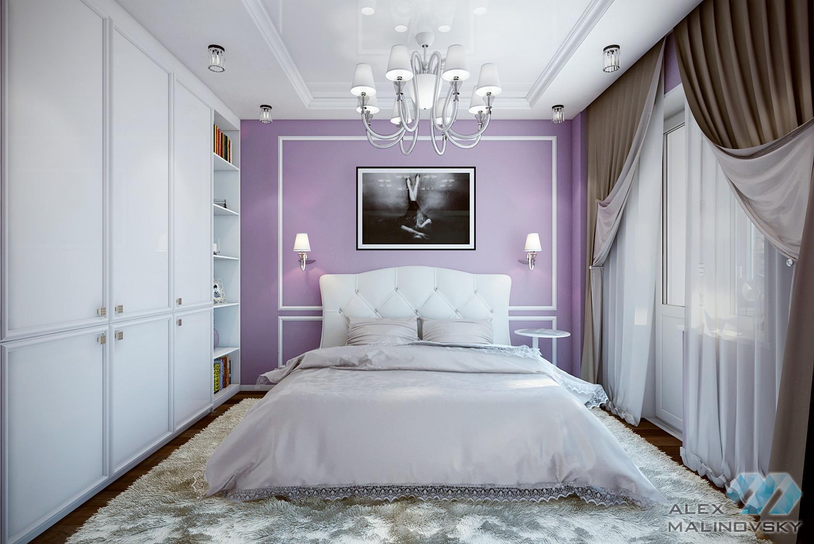 Спальня, 3х комнатная квартира, ул Генерала Белобородова, Москва