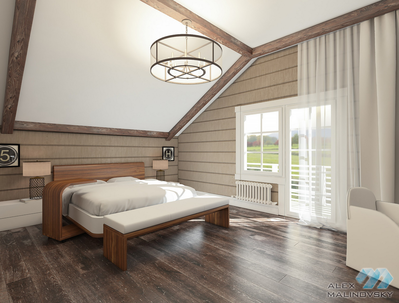 КП Lake Side, Московская область, спальня в коттедже