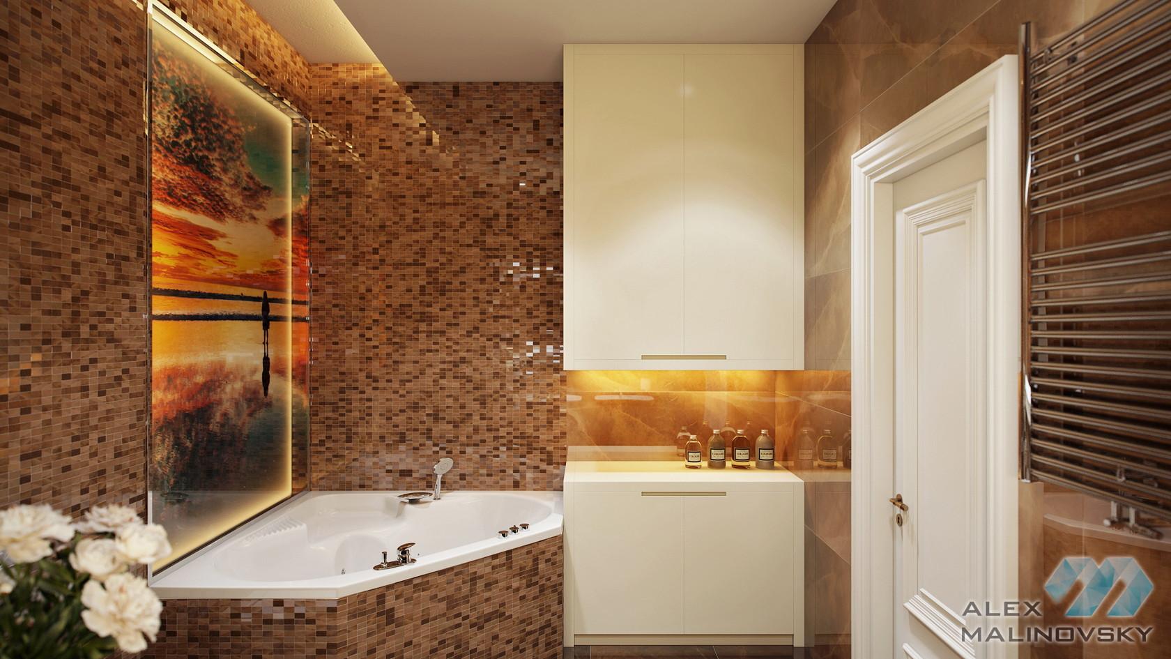 Ванная, 4х комнатная квартира, ул. Веерная, Москва