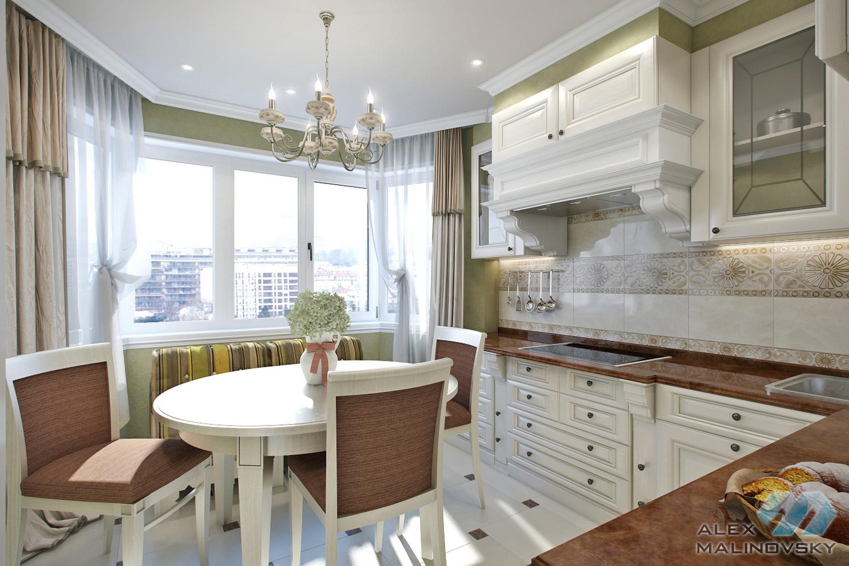 Кухня, 2х комнатная квартира, ЖК Бутово-парк, Москва