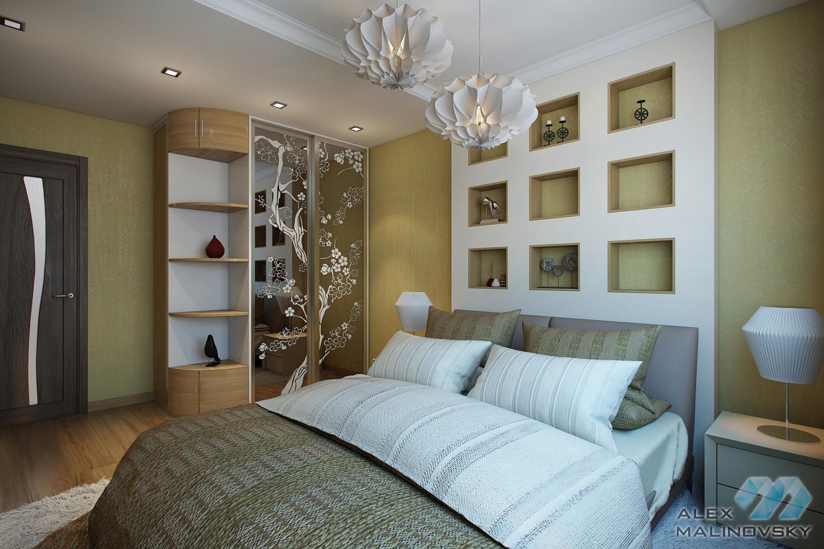 Спальня, 2х комнатная квартира, Московская область
