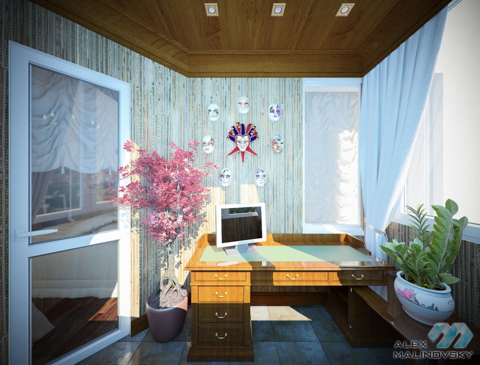 Балкон 1, 3х комнатная квартира, ЖК Доминанта, СПб