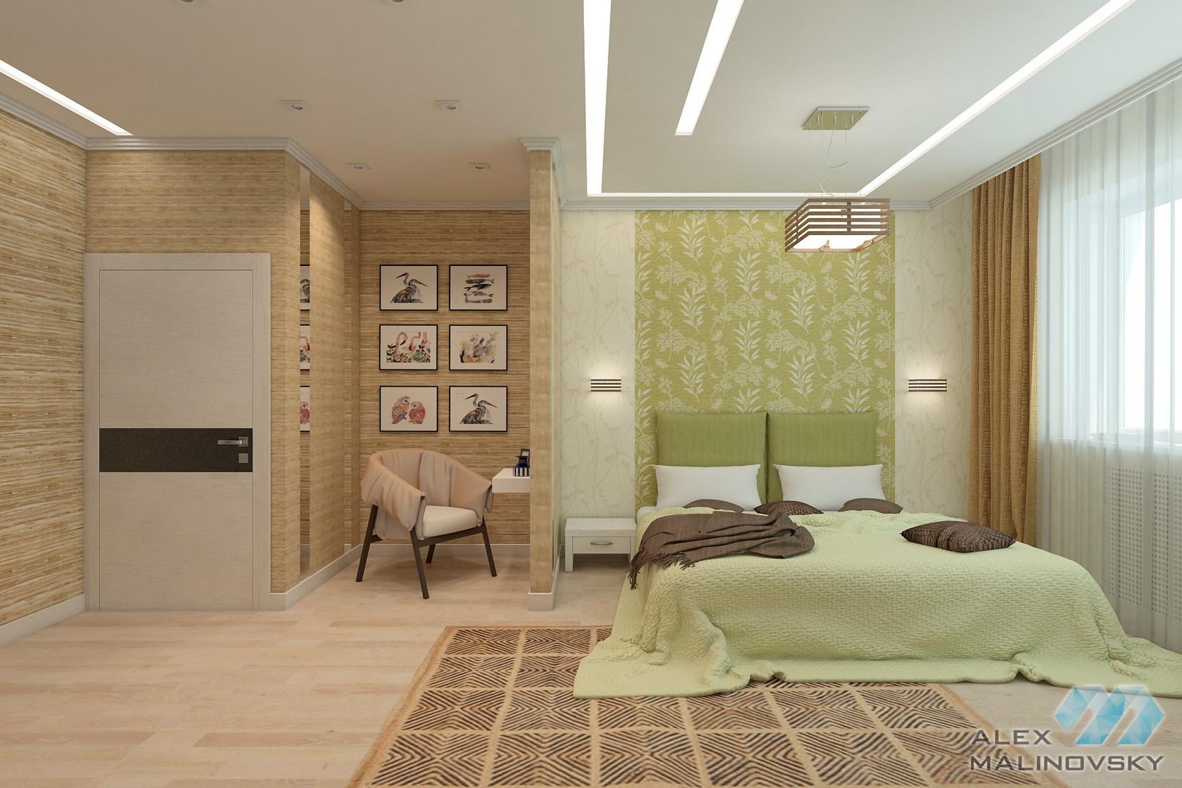 Спальня, 3х комнатная квартира, ЖК Совхоз им Ленина, Москва