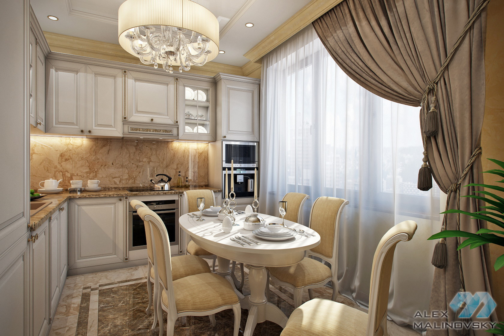 Кухня, 4х комнатная квартира, ул. Веерная, Москва