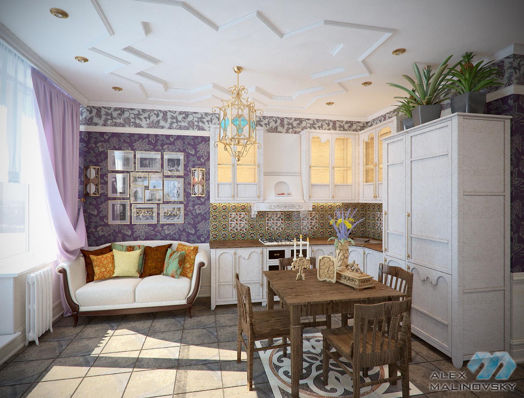 Кухня, 2х комнатная квартира, ЖК Веллтонпарк, Москва