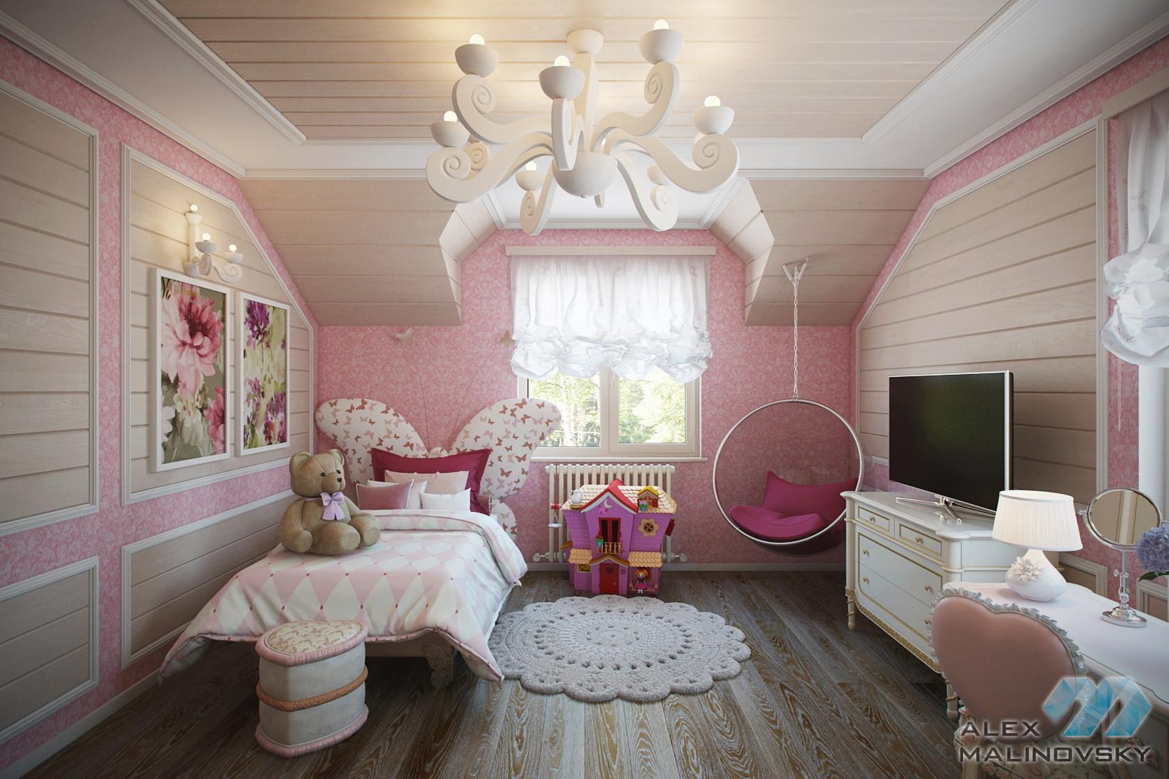 КП Глаголево, Московская область, детская комната в коттедже