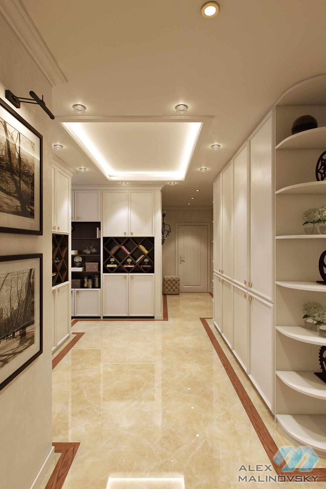 Прихожая, 3х комнатная квартира, ул Генерала Белобородова, Москва