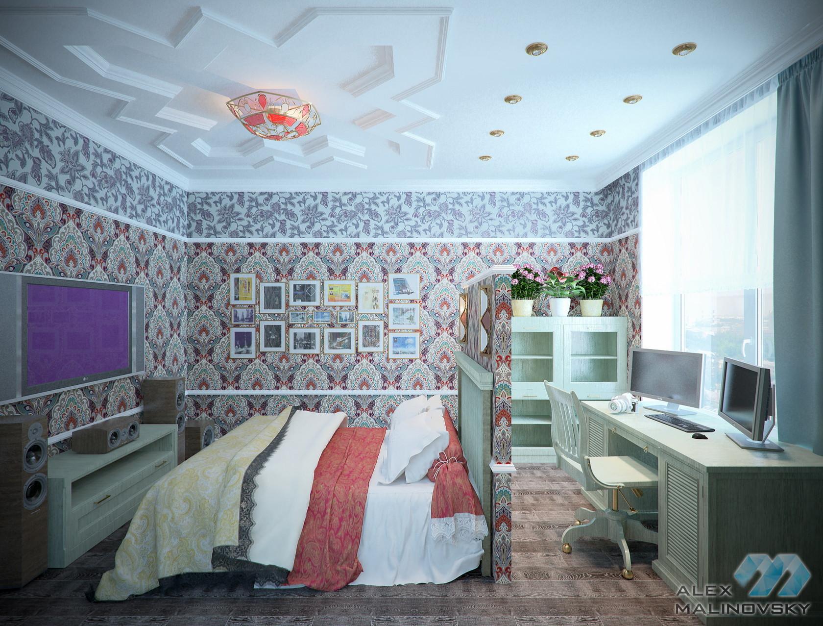 Спальня-кабинет, 2х комнатная квартира, ЖК Веллтонпарк, Москва