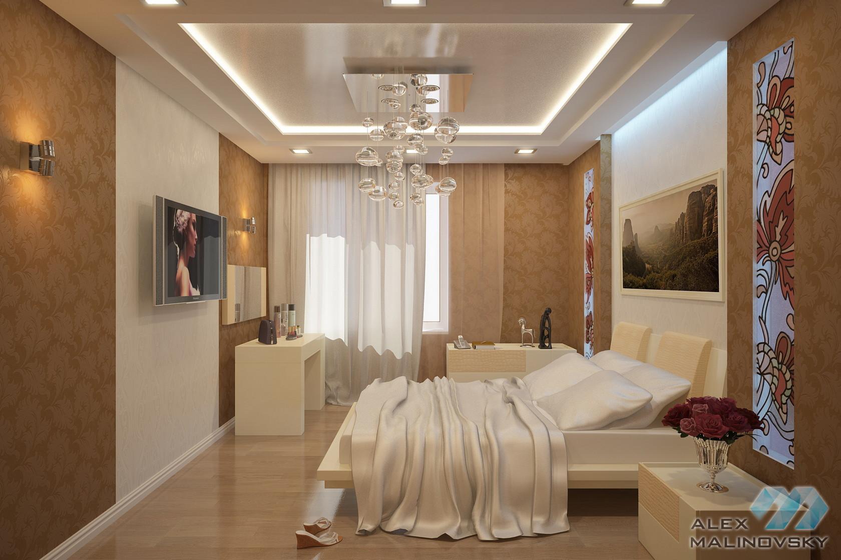 Спальня, 3х комнатная квартира, ЖК Уткина заводь, СПб