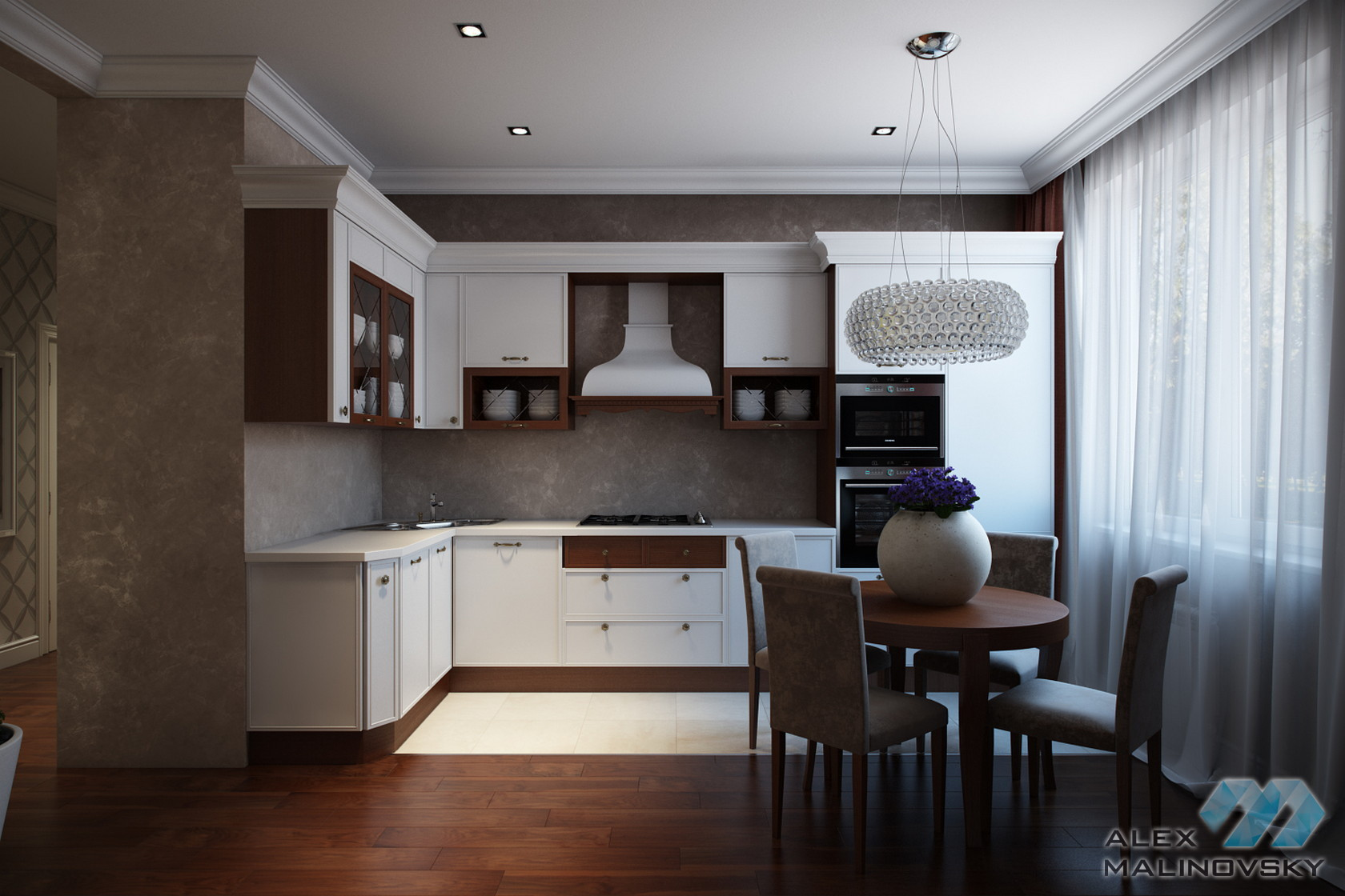 Кухня, 3х комнатная квартира, ул. Веерная, Москва