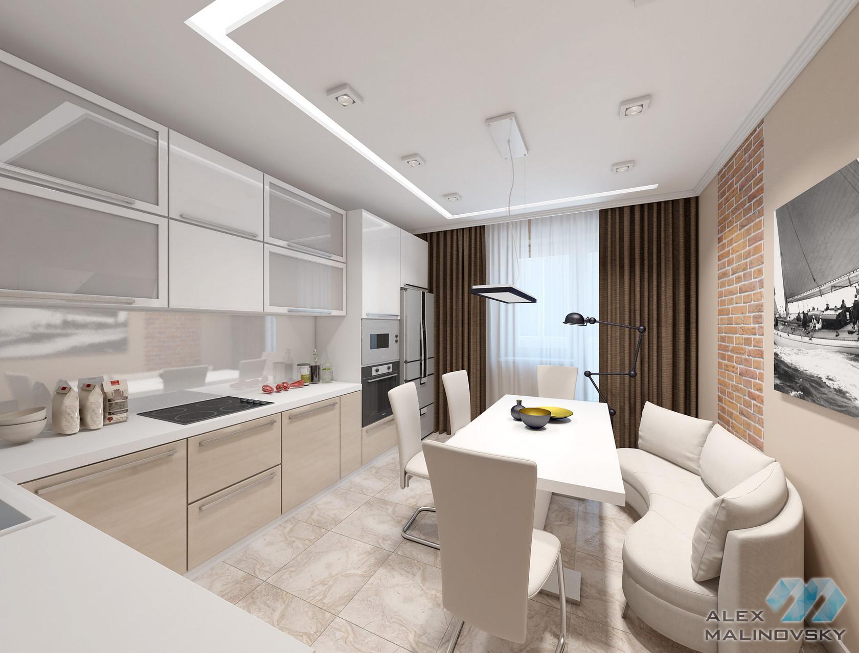 Кухня,  3х комнатная квартира, ЖК Совхоз им Ленина, Москва