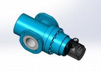 3D модель роторного счетчика газа
