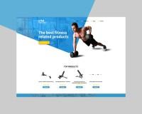 Дизайн англоязычного сайта обзора оборудования для фитнесса.
