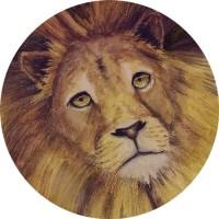 Лев. Акварельные карандаши