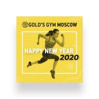 Открытка для Gold's Gym