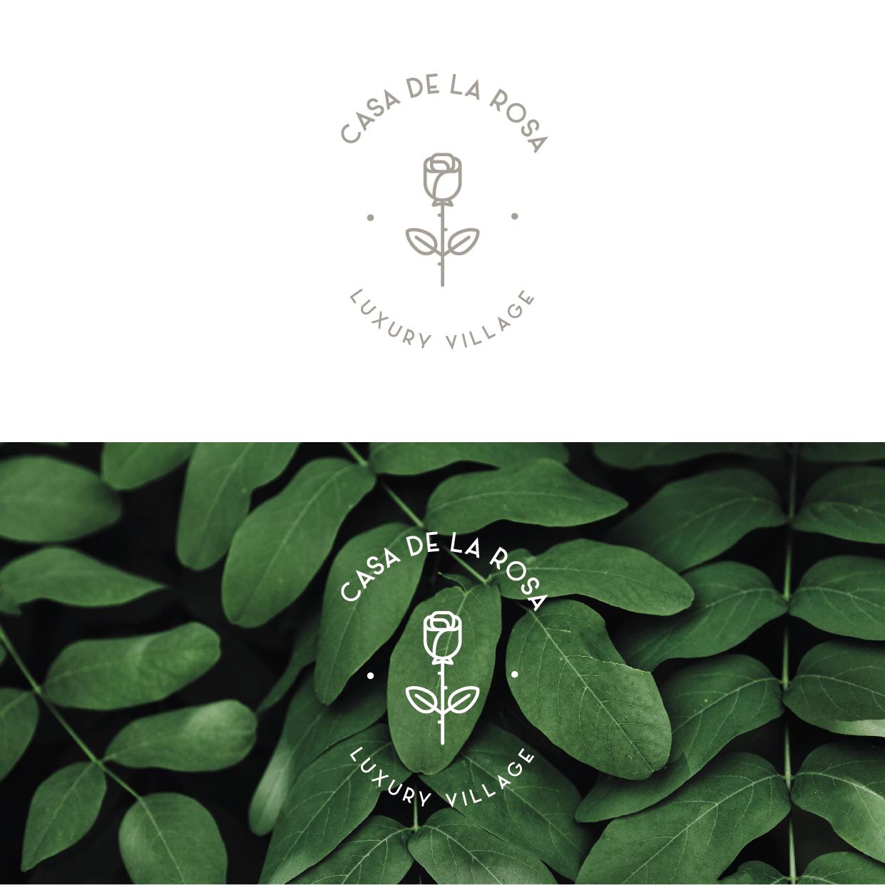 Логотип + Фирменный знак для элитного поселка Casa De La Rosa фото f_0165cd4dc21ba54c.jpg