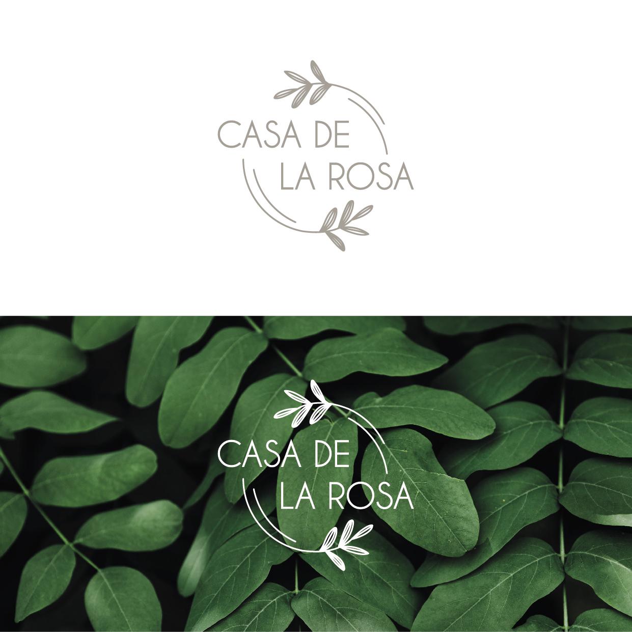 Логотип + Фирменный знак для элитного поселка Casa De La Rosa фото f_2385cd2e10d389ea.jpg