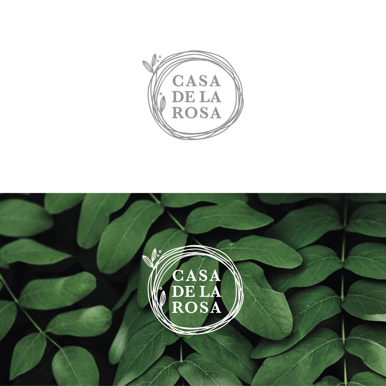 Логотип + Фирменный знак для элитного поселка Casa De La Rosa фото f_8445cd2e1293e23e.jpg